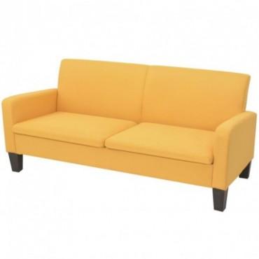 Canapé à 2 places Jaune 180x65x76cm