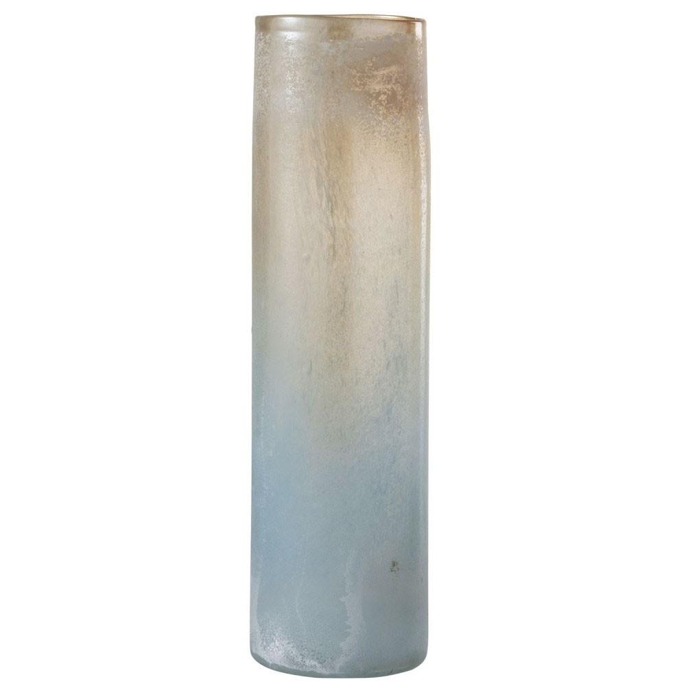 Vase Scavo Bord Cylindrique Verre Orange/Bleu