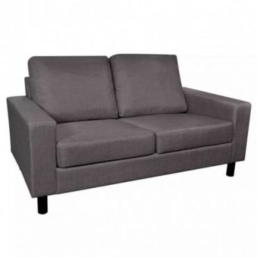 Canapé à 2 places en tissu Gris foncé 150x87x81cm (lxPxH)