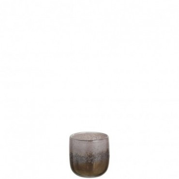 Vase Rond Degrade Verre Marron Small
