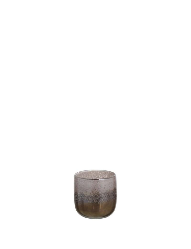 Vase Rond Degrade Verre Marron Small
