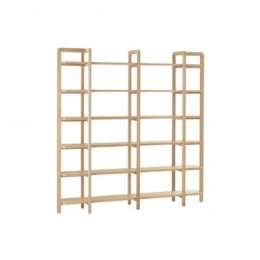 Etagere 6 Planches Scandinave Bois Naturel