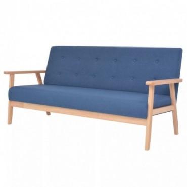 Canapé à 3 places en tissu Bleu  158x67x73,5cm (IxPxH)