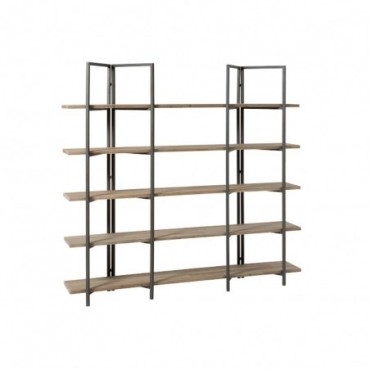 Etagere 5 Planches Bois/Metal Naturel