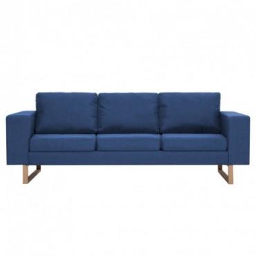 Canapé à 3 places en tissu Bleu  200x82x75cm (lxPxH)