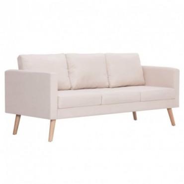 Canapé à 3 places en tissu Crème  168x70x73cm (lxPxH)