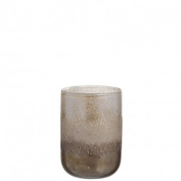 Vase Rond Degrade Verre Marron Medium