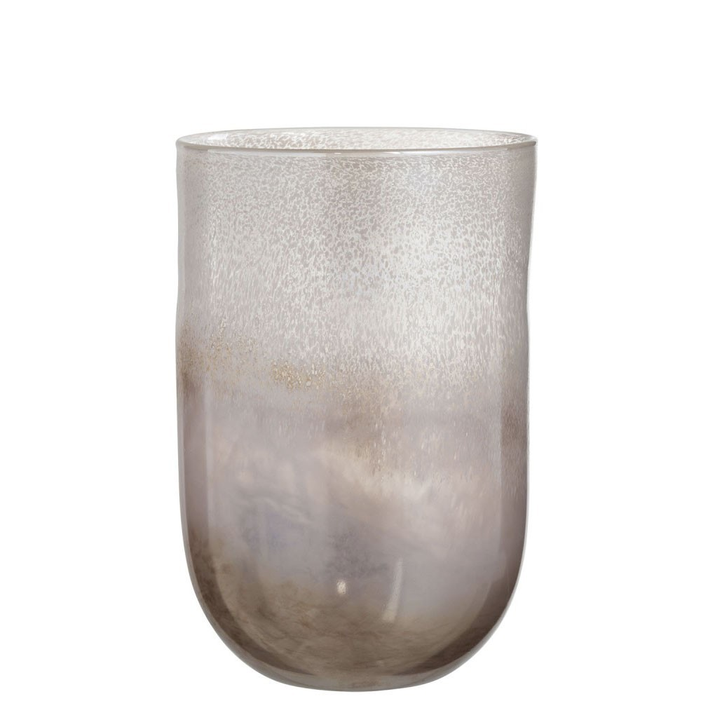 Vase Rond Degrade Verre Marron Large