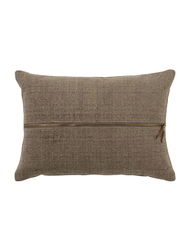 Coussin Tirette Rectangulaire Coton Marron