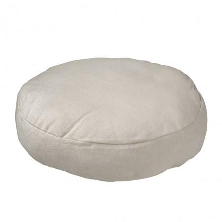 Coussin Rond Coton Blanc