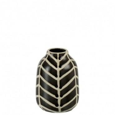 Vase Ethnique Ceramique Marron/Beige