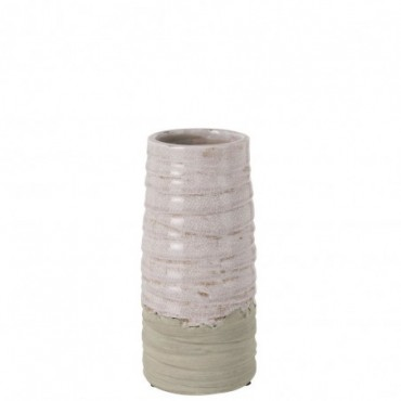 Vase Debordement Ceramique Rose Small
