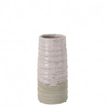 Vase Debordement Ceramique Rose Small