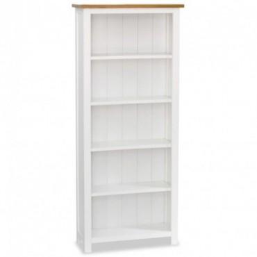 Bibliothèque à 5 étagères en bois de chêne massif 60x22,5x140cm