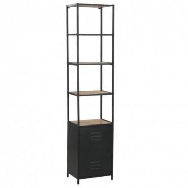 Bibliothèque en bois de sapin massif et en acier 40,5x32,5x180cm