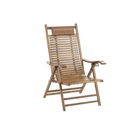Chaise Longue Pliable Bambou Naturel