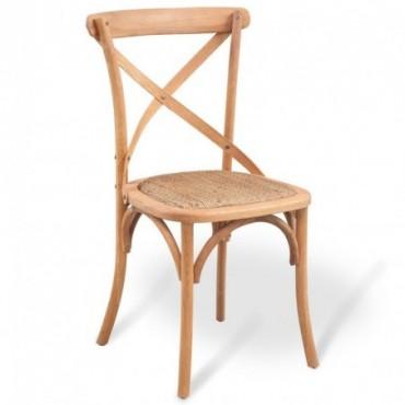 Chaise de table en bois de chêne massif 48x45x90cm