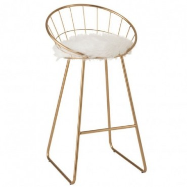 Chaise De Bar Ronde Metal Or