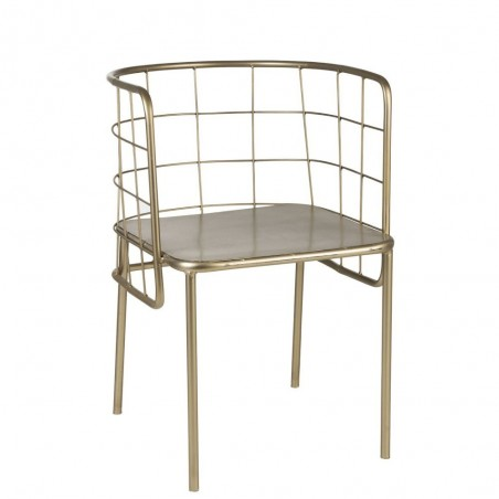 Chaise Cuve Metal Or