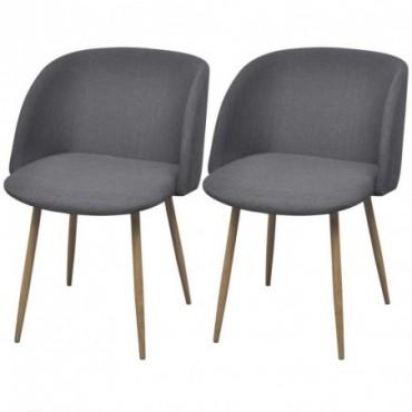 Chaise de table x2 gris foncé