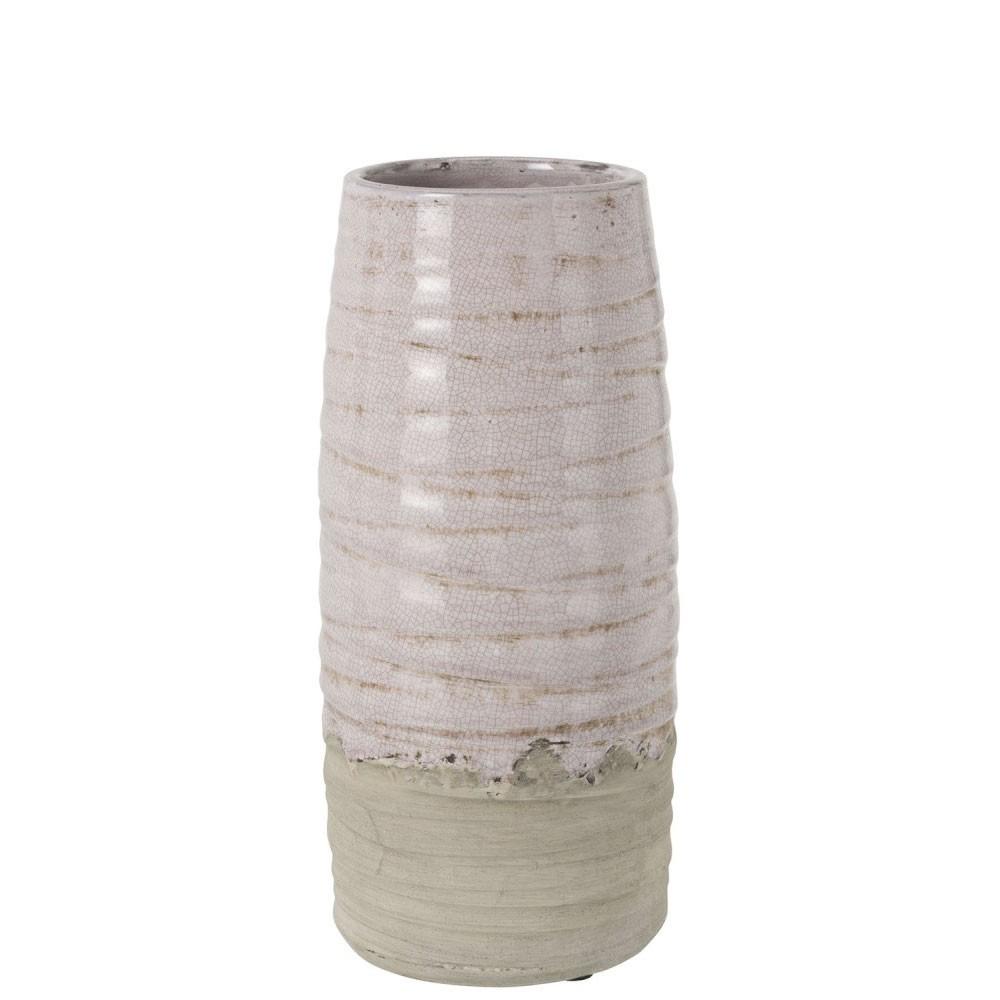 Vase Debordement Ceramique Rose Large