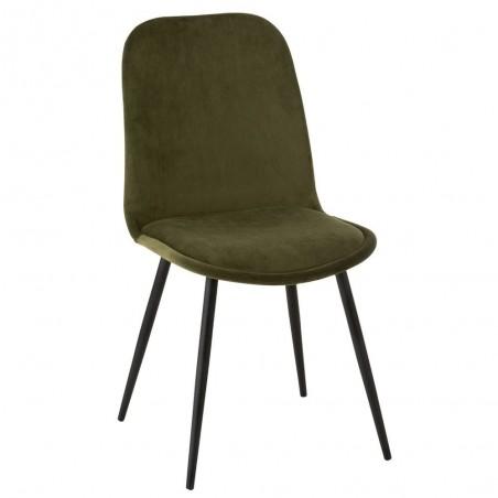 Chaise Claire Metal/Textile Vert