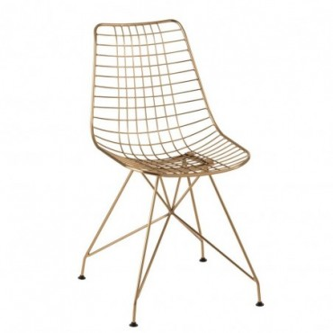 Chaise Charlotte Metal Or