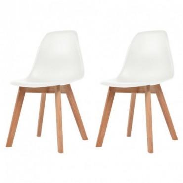 Chaise de table scandinave x2 Blanc