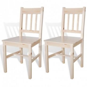Chaise de table x2 en bois Couleur naturelle