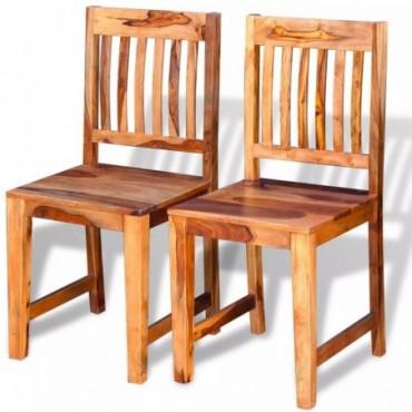 Chaise de table x2 en bois massif de sesham