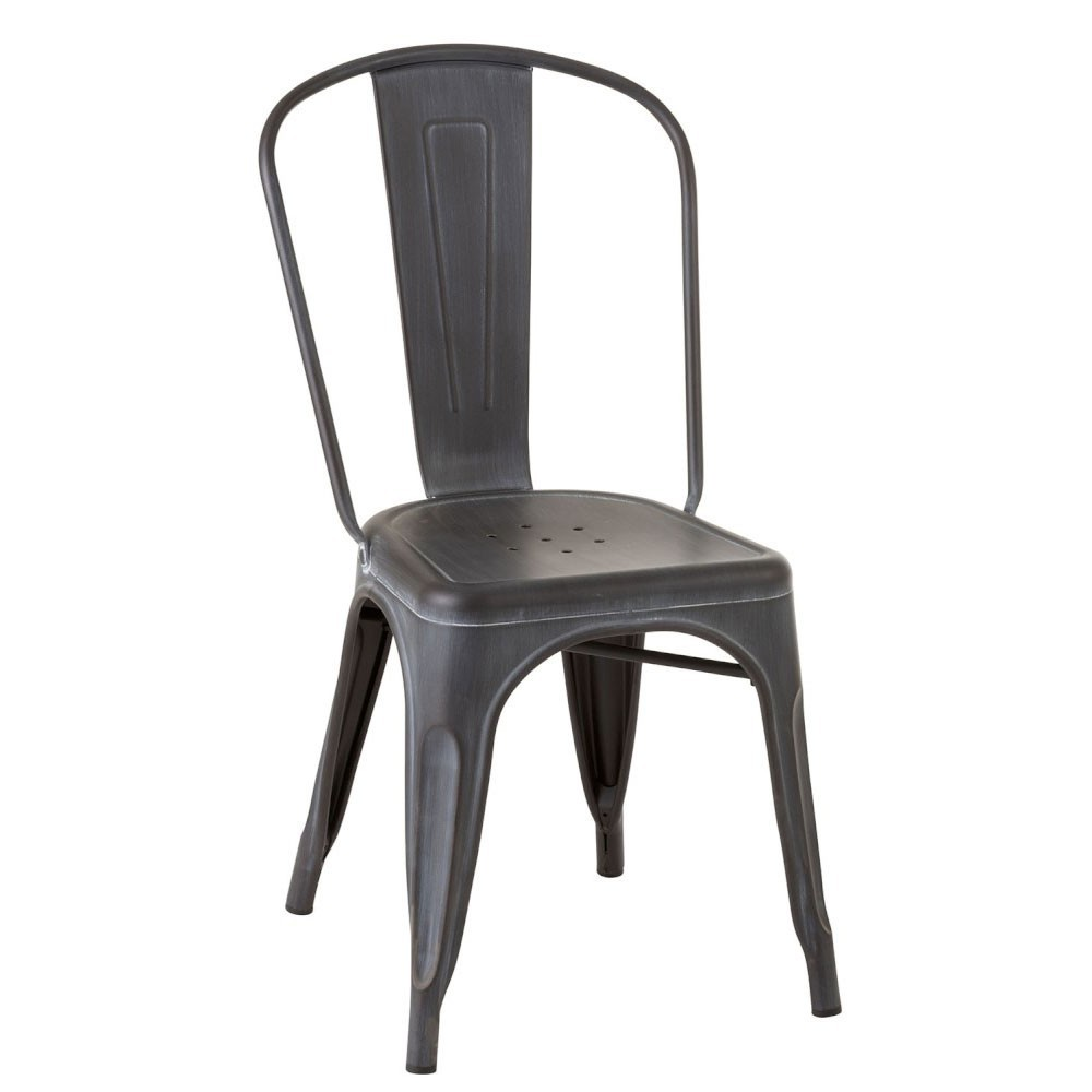 Chaise Bistro Metal Noir