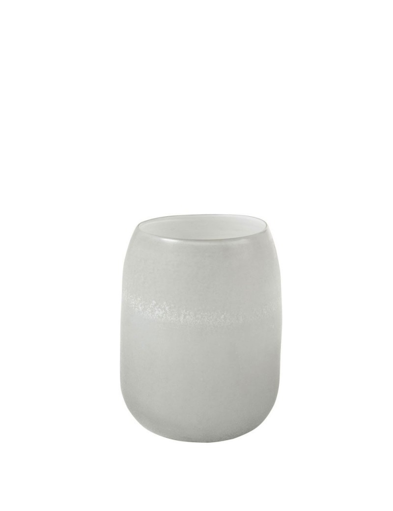 Vase Cylindrique Verre Gris Small