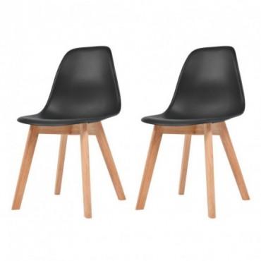 Chaise de table scandinave x2 Noir 46,5x47,5x83cm