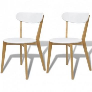Chaises x2 en bois et en bois de bouleau