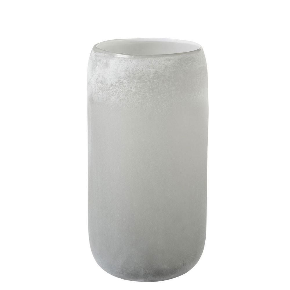 Vase Cylindrique Verre Gris Large