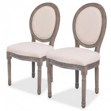 Chaise de table x2 en lin