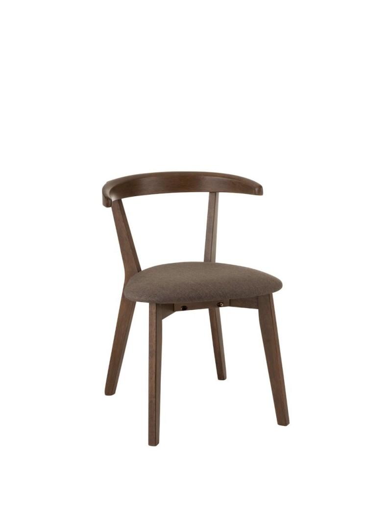 Chaise + Coussin Vintage Bois Marron