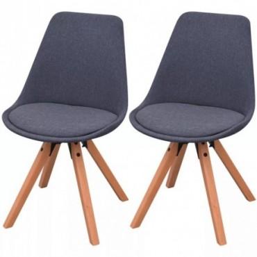 Chaise de table x2 en tissu Gris foncé
