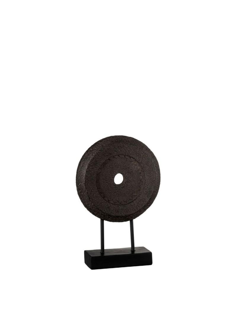 Cercle Rugueux Sur Pied Resine Marron Small