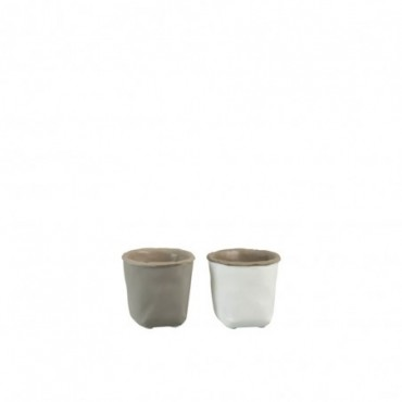 Cachepot Sachet Ciment Gris Extra Small (Assortiment de 2)