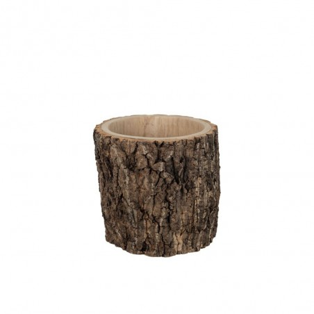 Cachepot Rond Paulownia Ecorce Marron Medium