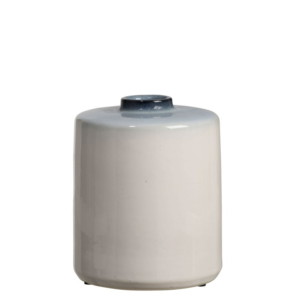 Vase Ceramique Bleu/Blanc Small