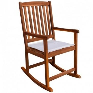 Rocking chair pour jardin en acacia massif