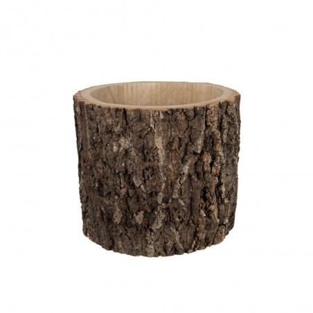 Cachepot Rond Paulownia Ecorce Marron Large