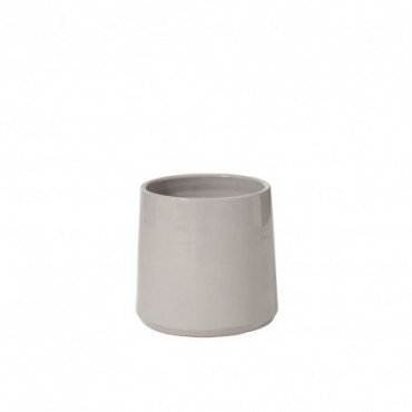 Cachepot Rond Ceramique Gris Medium