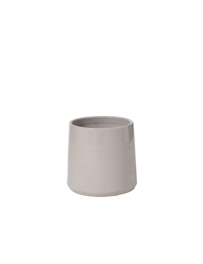 Cachepot Rond Ceramique Gris Medium