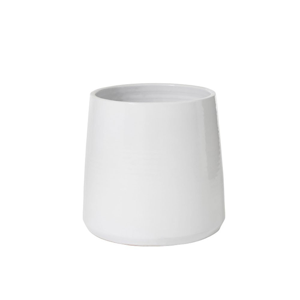 Cachepot Rond Ceramique Blanc Extra Large