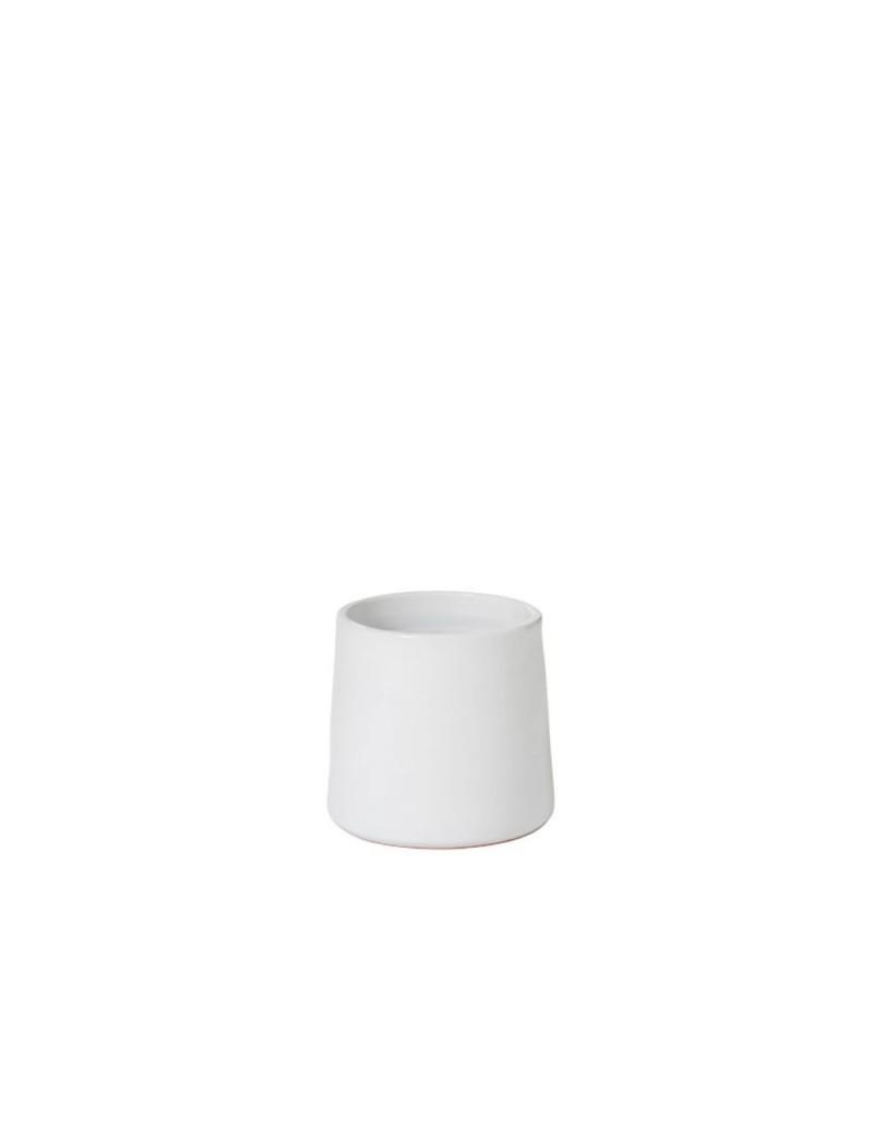 Cachepot Rond Ceramique Blanc Small