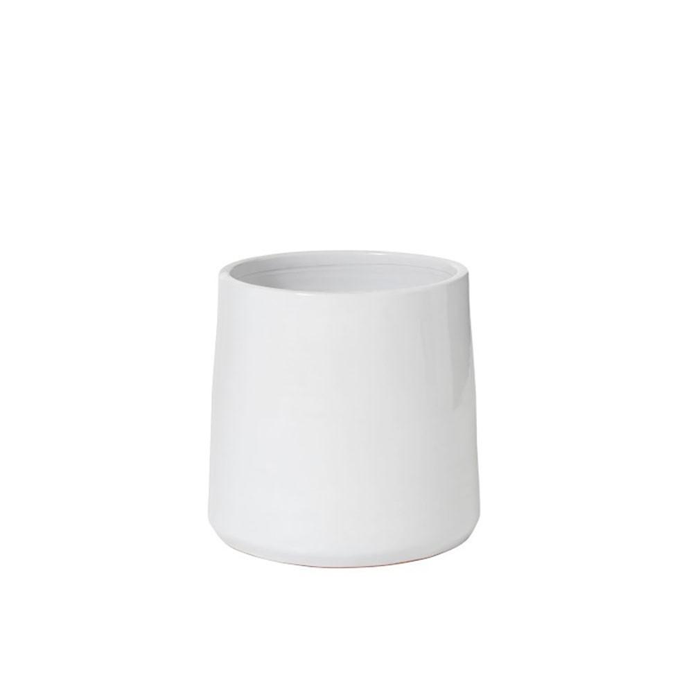 Cachepot Rond Ceramique Blanc Large