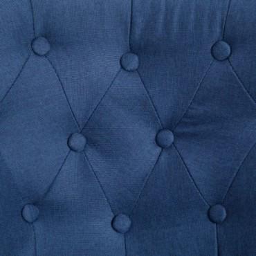 Fauteuil crapaud Bleu en tissu